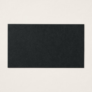 Minimalist Plain Black Professional Simple Elegant Business Card