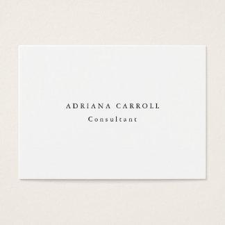 Minimalist Plain Simple White Professional Business Card
