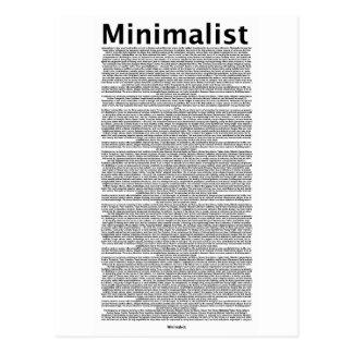 minimalist postcards