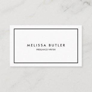 Teacher business cards profile cards zazzle ca minimalist professional elegant black and white business card reheart Choice Image