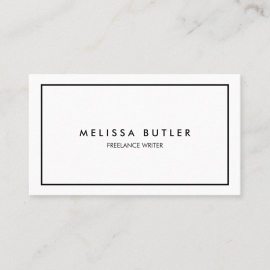 Minimalist professional elegant black and white business card minimalist professional elegant black and white business card reheart Images