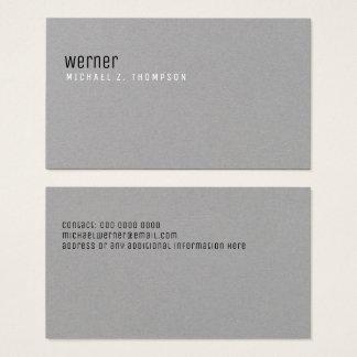 minimalist professional elegant simple gray business card