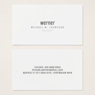 minimalist professional elegant simple manager b/w business card