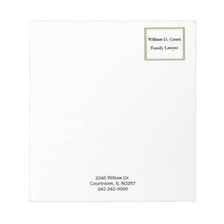 Minimalist Professional Gold Frame Business Notepad