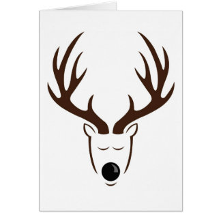 Minimalist Reindeer Holiday Card