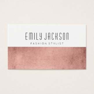 Minimalist Rose Gold Business Card