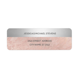Minimalist rose gold marble silver stripe
