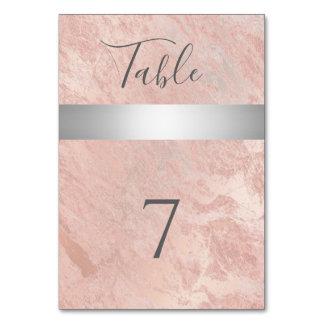 Minimalist rose gold marble silver stripe card