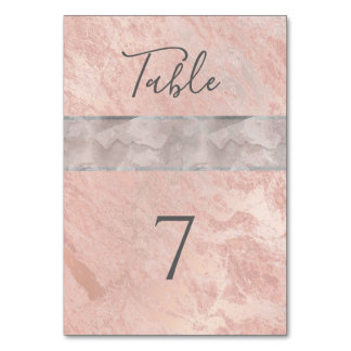 Minimalist rose gold marble watercolor stripe card
