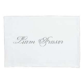 Minimalist Script Plain Personalized 3d Monogram Pillowcase