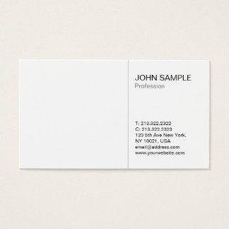 Minimalist Simple Plain Modern Professional White Business Card