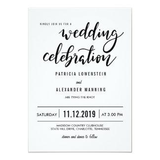 Minimalist Simple Wedding Celebration Typography Card