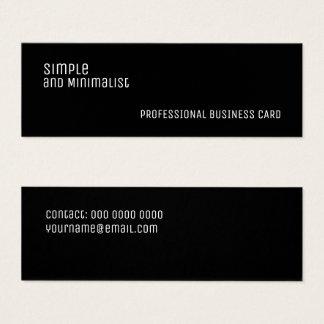 Minimalist slim black mini business card