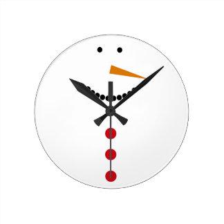 Minimalist Snowman Clock
