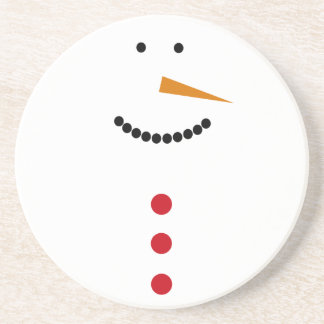 Minimalist Snowman Coasters