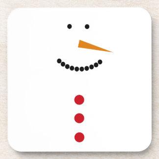Minimalist Snowman Drink Coaster