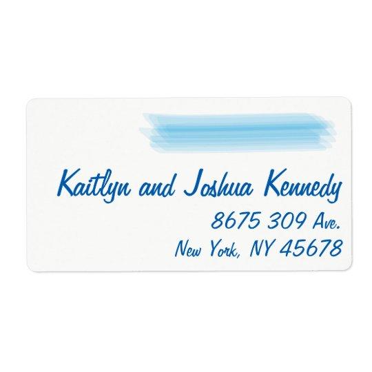 Minimalist Soft Ambiance Blue Watercolor Address Shipping Label