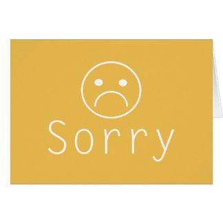 Minimalist Sorry Apology Greeting Card
