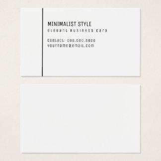 minimalist style elegant white business card