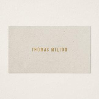 Minimalist Texture Beige Consultant Business Card
