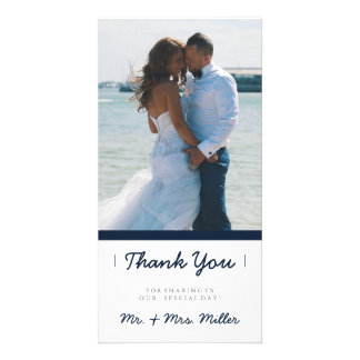 Minimalist Thank You | WEDDINGS Customized Photo Card