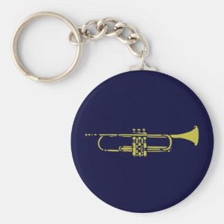 Minimalist Trumpet Keychain
