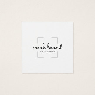 Minimalist Viewfinder Photography Photographer Square Business Card