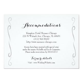 Minimalist Vintage Rose Wedding Accommodation Card
