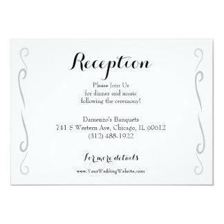 Minimalist Vintage Rose Wedding Reception Card