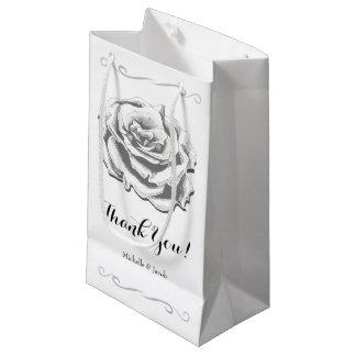 Minimalist Vintage Rose Wedding Small Gift Bag