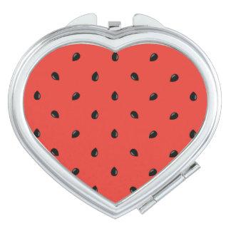 Minimalist Watermelon Seed Pattern Makeup Mirror