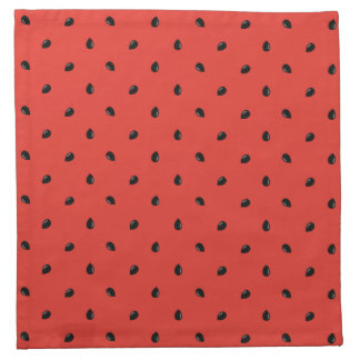 Minimalist Watermelon Seed Pattern Napkin