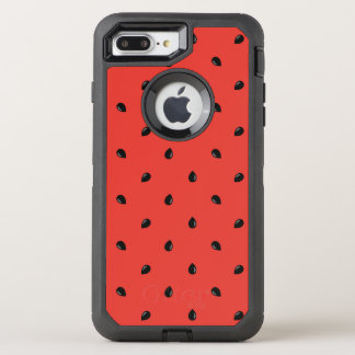 Minimalist Watermelon Seed Pattern OtterBox Defender iPhone 8 Plus/7 Plus Case