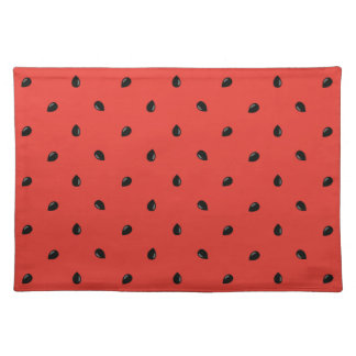 Minimalist Watermelon Seed Pattern Placemat
