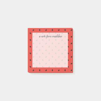 Minimalist Watermelon Seed Pattern Post-it Notes