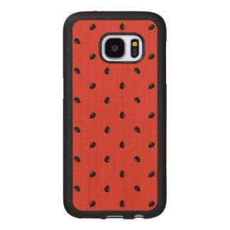 Minimalist Watermelon Seed Pattern Wood Samsung Galaxy S7 Case