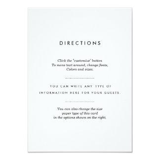 "Minimalist Wedding Insert 4.5"" X 6.25"" Invitation Card"