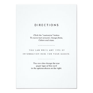 Minimalist Wedding Insert Card