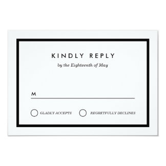 Minimalist Wedding RSVP Card