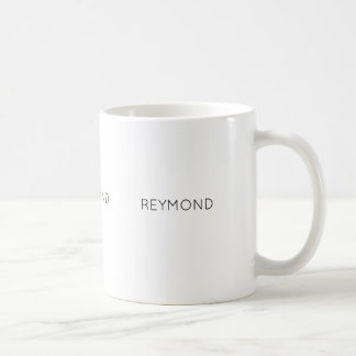 minimalist white coffee mug