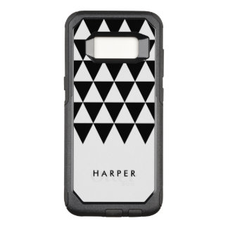 Minimalist White Name Black Triangle OtterBox Commuter Samsung Galaxy S8 Case