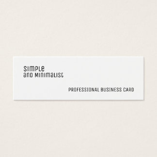 Minimalist white slim mini business card