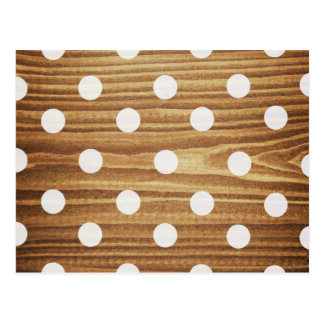 Minimalist wood polka dots. postcard