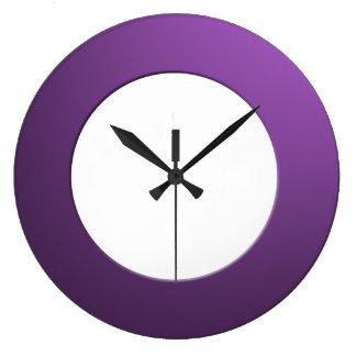 Minimalistic any Colour No Digits on Purple Frame Clocks