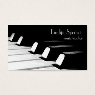 Minimalistic Black & White Piano Key Business Card