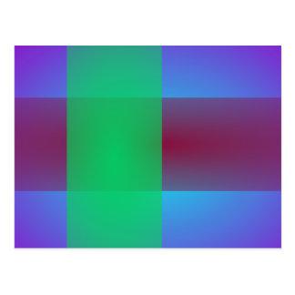 Minimalistic Crossing Colors Postcard
