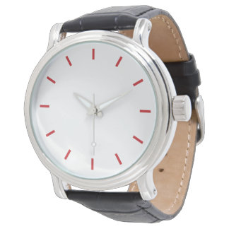 Minimalistic design watch with red dials