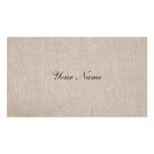 Minimalistic Elegance Linen Business Card