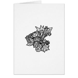 Minimalistic floral greetings card