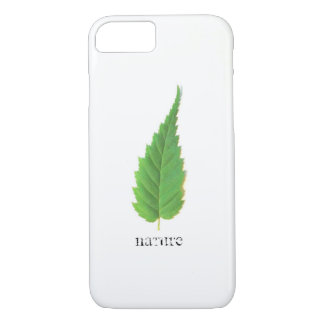 Minimalistic green leaf iPhone 8/7 case